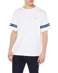 Tommy Hilfiger Tjm Arm Band Tee T-Shirt Uomo - Bianco