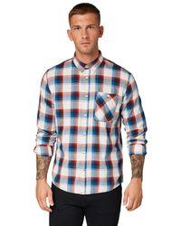 Tom Tailor Für Männer Blusen, Shirts & Hemden Kariertes Hemd - Blau