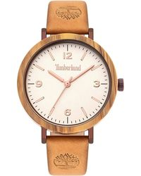 Timberland Analogue Quartz Watch With Real Leather Strap Tbl15958mybnbe.07 - Brown