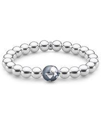 Thomas Sabo Bracelet Globe terrestre Argent Sterling 925, Noirci A1870-637-21 - Métallisé