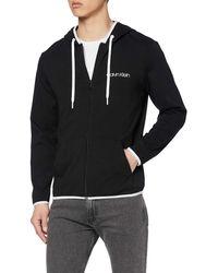 Calvin Klein Full Zip Hoodie Top Pigiama - Nero