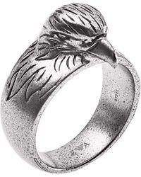 Emporio Armani Ringe Edelstahl mit '- Ringgröße 64 EGS2662040-11 - Mettallic