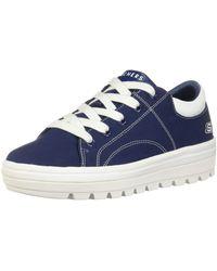 Skechers Damen Street Cleat-Bring It Back Sneaker - Blau