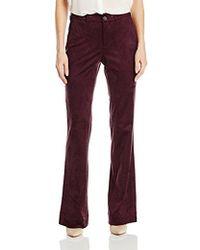 NYDJ - Teresa Modern Trousers In Faux Suede - Lyst
