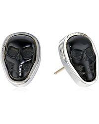King Baby Studio - Studio S Obsidian Skull Stud Earrings - Lyst