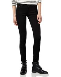 Tommy Hilfiger Mid Rise Nora Jeans Donna - Nero