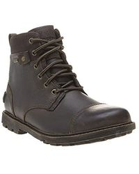 Rockport Rugged Bucks Ii Cap Toe Boots Brown