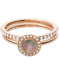 Fossil Ring Jf02954791-6.5 - Pink