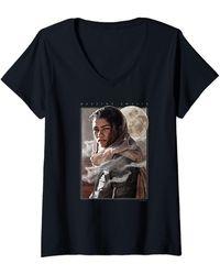 Dune Chani Destiny Awaits Portrait T-Shirt avec Col en V - Noir