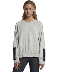 Hurley Dolman Fleece Long Sleeve Crew Neck Sweatshirt - Gray