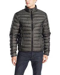 Calvin Klein - Jeans Denim Twill Printed Puffer Jacket - Lyst