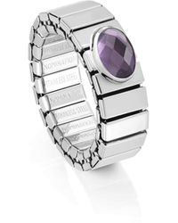 Nomination Stretch Ring With Coloured Cubic Zirconia. Made In Italy - Multicolour