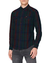 Wrangler Ls Western Shirt Slim Fit Casual Shirt - Grey