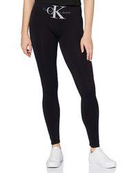 Calvin Klein Socks s Legging 1p Logo high Waist Liberty Tights - Schwarz