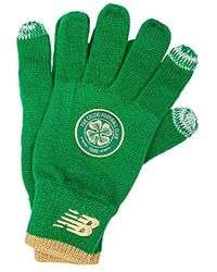 New Balance S Celtic Fc Knitted Gloves In Green White - Xs/s