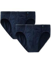 Schiesser - Slip 2er Pack - Supermini, Cotton Stretch, Uni, Serie 95/5 (dunkelblau (801 Admiral), XL (X-Large, 2-Pack)) - Lyst