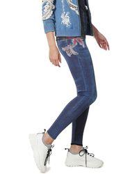 Desigual Floral Print Nala Leggings - Blu