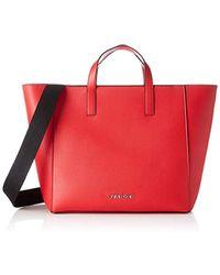 Calvin Klein Strap Shopper, Cabas - Rouge