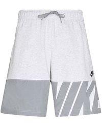 Nike City Edition Shorts Grau Code CZ9952-051 - Weiß