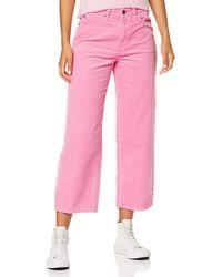 Lee Jeans 5 Pocket Wide Leg Corduroy Pantaloni - Rosa