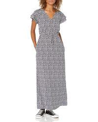 Goodthreads Georgette Ruffle-sleeve Maxi Dress - Grey