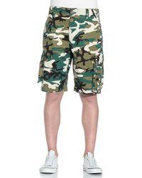 PUMA Woven Varsity Camo Cargo S Shorts 568435 Dd11 - Green