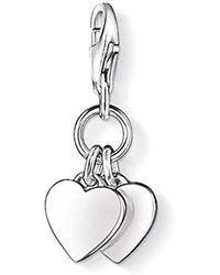 Thomas Sabo Ciondolo per Charm Club da donna cuore argento Sterling 925 0836 - 001 - 12 - Metallizzato