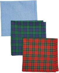 Hackett Hackett 3 Pacsks Tartan Handkerchiefs - Green