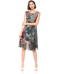Desigual Dress Short Sleeve KARUKA Pink Robe - Multicolore