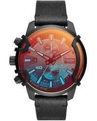 DIESEL Armbanduhr Chronograph Griffed DZ4519 - Schwarz