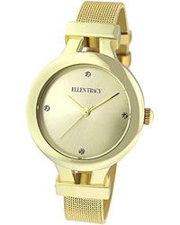 Ellen Tracy - Quartz Metal And Stainless Steel Watch, Color:gold-toned (model: Et5232gd) - Lyst