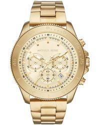 Michael Kors 'Bryson' Quartz Stainless Steel Watch - Mettallic