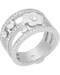 Michael Kors Silver Piercing Ring Mkj7172040-8 - Metallic