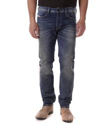 DIESEL Buster R9K03 Jeans Uomo Regular Slim Tapered - Blu