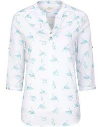 Mountain Warehouse 100% Cotton Voile Ladies Summer - Blue