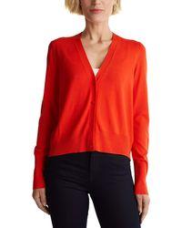 Esprit Collection 080eo1i309 Cardigan Jumper - Orange
