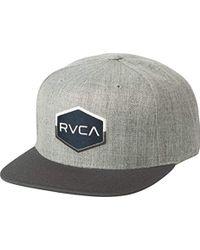 RVCA - Commonwealth Snapback Hat - Lyst
