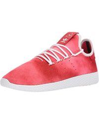 buy popular 5694e f46a5 adidas Originals - X Pharrell Williams Tennis Hu Trainers Scarlet footwear  White footwear White