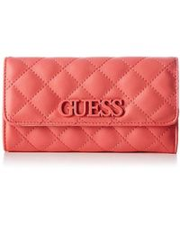 Guess - Elliana Slg Pocket Trifold Wallet - Lyst