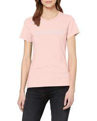 Calvin Klein Institutional Logo Slim Fit tee Camiseta - Rosa
