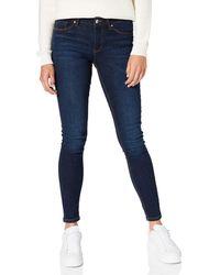Springfield Jeans Slim Algodón Reciclado Lavado Sostenible Pantalones - Azul