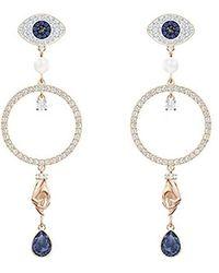 Swarovski Symbolic Kreolen für Frauen, mehrfarbiges Kristall