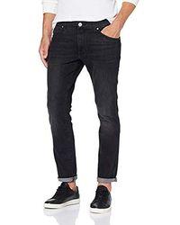 Wrangler Herren Larston Slim Jeans - Schwarz