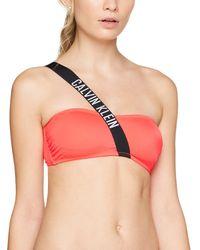 Calvin Klein Strap Bandeau-RP-n Reggiseno Bikini - Rosa