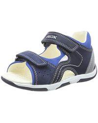 Geox B Sandal Tapuz Boy B, Sandalias para Bebés - Azul