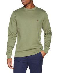 Tommy Hilfiger Hilfiger Logo Sweatshirt Sudadera - Verde