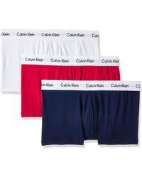 Calvin Klein Hombre 3 Trunks Paquete de Poca Altura, Negro - Multicolor