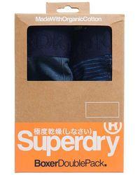 Superdry - Classic Boxer Double Pack Caleçon - Lyst