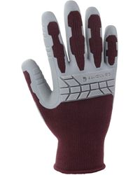 Carhartt Knuckler Work Glove With Grip And Knuckle Protection - Multicolor
