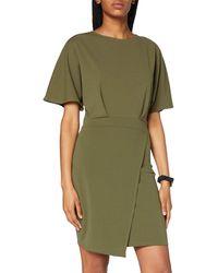 Dorothy Perkins Khaki Kimono Sleeve Bodycon Dress Casual - Green